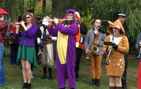 Marching Band Participates in Slippery Rock Halloween Parade