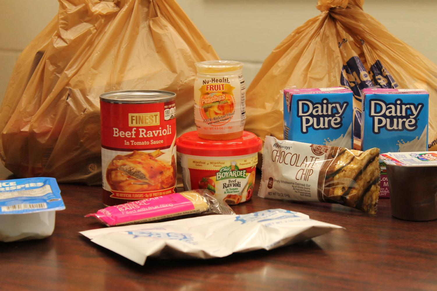 The Weekend Food Program provides bags of food for SRHS students to take home over the weekend.