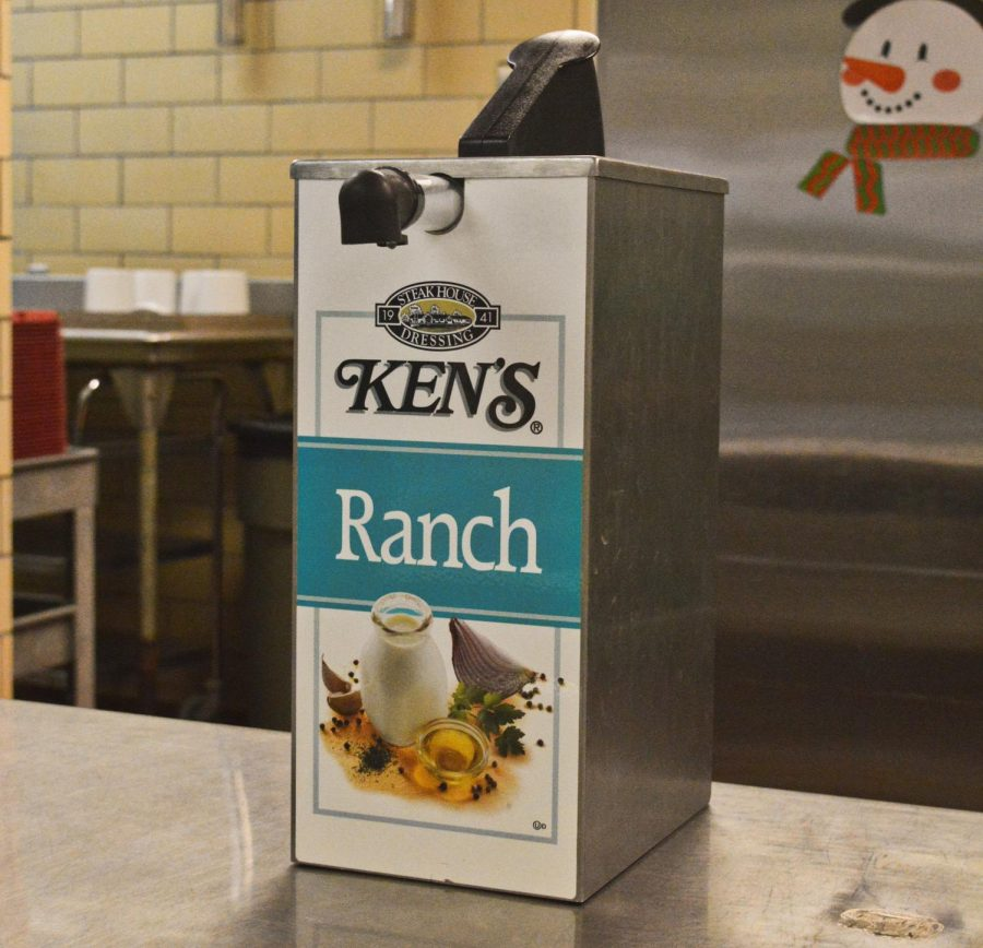 The regular ranch by Ken's that is found in the pump bottles in the cafeteria. This has been deemed the
