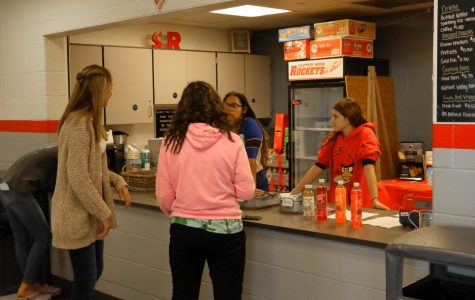 The Rock Shop opened at the beginning of the 2019 school year for the first time. It is open periods 1-4 every day, and is run by students and staff.